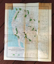 1899 Western Us Map of Forest Reserves National Parks Yellowstone Grand Canyon