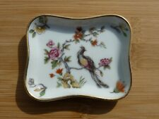 Vintage Limoges France  Porcelain Miniature Gold Rimmed Finger Dish