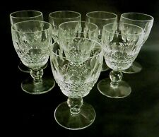 """SET OF 8 WATERFORD CRYSTAL """"COLLEEN"""" PORT GLASSES 4 INCHES IN HEIGHT"""