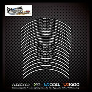 Excel 19 21 Inch A60 White Stripe Rim Tapes Black Decal Sticker MX (427)