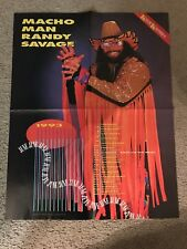 Vintage WWF MACHO MAN RANDY SAVAGE Poster 1993 1990s WCW WWE RARE