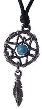 Pewter DREAMCATCHER Pendant on Black Cord Necklace Nickel Free Dream Catcher