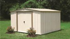 Arrow Shed, 10 x 10 ft. Steel Storage Garden Shed Taupe