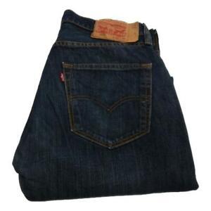 Mens Levi Strauss 501 Straight Leg Jeans Waist 32 Leg 28 Button Fly (P3593)