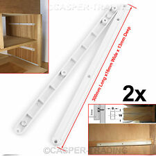 2 5 10 20x Pairs Of White Plastic Draw Drawers Runners Guide Rail 17MM Grooved
