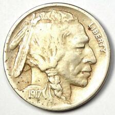 "1917-D Buffalo Nickel 5C Coin - XF Details - Scarce Date ""D"" Mint Coin!"