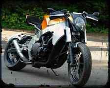 Honda CBR 1000F Custom Streetfighter 2 A4 Metal Sign moto antigua añejada De
