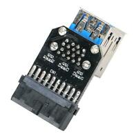 Motherboard 19 Pin Header To 2 Ports USB 3.0 Type A Female Port HUB Adapter 	SG5