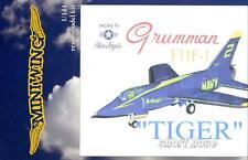 "MiniWing Models 1/144 GRUMMAN F11F-1 ""SHORT NOSE"" TIGER U.S. Navy Blue Angels"