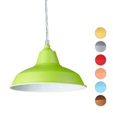 Pendelleuchte Industrie Pendellampe Metall Hängeleuchte Hängelampe farbig Lampe
