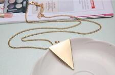 Retro Style Fashion Punk Jewelry Triangle Pendant Long Chain Sweater Necklace