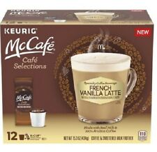 Keurig 14.7 Oz McCafe Selections Latte 12 K Cup Coffee Pods & Milk Frothers