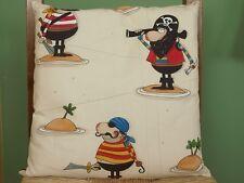 Kinderzimmer Kissen Kuschelkissen für Kinder Pirateninsel *kindgerechtes Motiv*