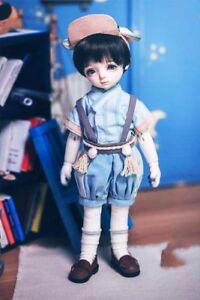 "Free shipping BJD Doll Hair Wig 8-9""1/3 SD DZ DOD LUTS Black short wig"