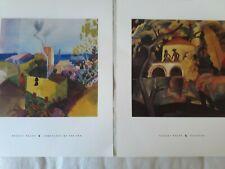 2 PRINTS. BY MACKE (ROCOCCO)(LANDSCAPE BY THE SEA).