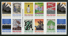 USA 2017 MNH WPA Posters 20v S/A Booklet Art Design Stamps