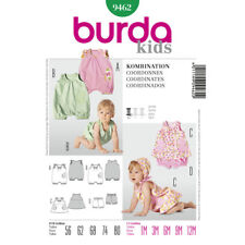 Burda Kids Easy SEWING PATTERN 9462 Baby Rompers,Dress & Panties 1m-12m