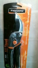 Fiskars 9109 All Steel Bypass Pruner, Slip Free, FREE SHIPPING