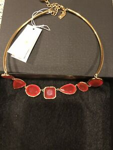NWT Kate Spade Vegas Jewels FACETS COLLAR Necklace Garnet