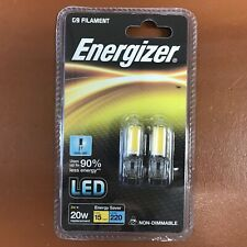 Energizer G9 LED Filament Bulb 220 Lumens Daylight Halogen Replacement 2w 20w