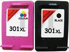 Remanufactured 301XL Black & Colour Ink Cartridge Combo fit HP Deskjet 2542
