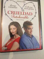 Dvd CRUELDAD INTOLERABLE con GEORGE CLOONEY y catherine zeta- jones