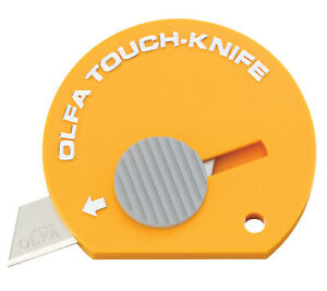 TK-4Y Olfa Multi-Purpose Touch Knife, Retractable Blade, Yellow, Pack of 4
