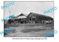 OLD LARGE PHOTO COFFS HARBOUR NSW SMITH GARAGE EDINBURGH St c1920
