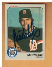 Milt Wilcox AUTOGRAPH 1983 FLEER BASEBALL CARD SIGNED DETROIT TIGERS