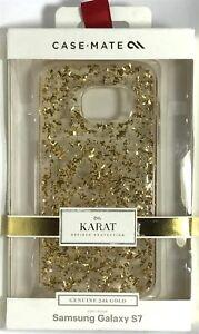 Case-Mate Karat Case for Samsung Galaxy S7 - Clear/Gold
