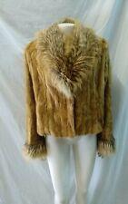 giacca donna pelliccia visone ,pelle asportata ,leggerissima taglia 48