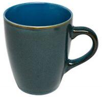 Sunnex Set of 6 Reactive Glazed Stoneware Large Coffee Mugs 350ml Capacity Blue