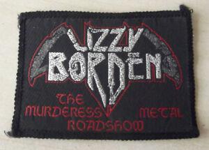 LIZZY BURDEN THE MURDERESS METAL ROADSHOW ORIGINAL PERIOD 80's SEW ON PATCH NOS