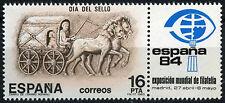 España 1983 SG#2738 Día del sello estampillada sin montar o nunca montada + Etiqueta #D39190