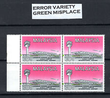 MALAYA MALAYSIA 1965 (ERROR VARIETY) BLOCK OF MNH STAMPS UNMOUNTED MINT