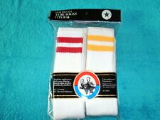 Old School Stripe Over The Calf Tube Socks Size Large 6 Pair Package USA Made