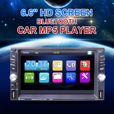 Car 6.6'' Touch Screen 2DIN Bluetooth FM Radio Stereo MP5 Player & Rear Camera