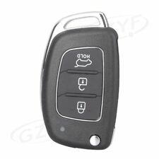 Flip Remote Key Fob Case Shell for HYUNDAI Santa Fe (ix45) 2013-2014 3 Button