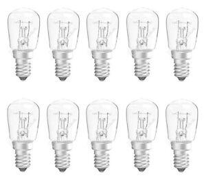 x 10 GE 15w Appliance / Pygmy Lamps - E14 / Small Edsion Screw