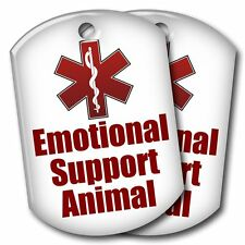 2 Emotional Support Animal ID Tags - 1 Low Price - USA Shipped!