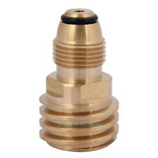 Converts Propane LP TANK POL Service Valve to QCC Outlet Brass Adapter for BBQ