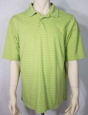 Ping lime green striped short sleeve casual golf polo shirt mens XL X-Large