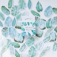 45Pcs Mint Plants Leaves Mini Paper Stickers Decor Album Diary Scrapbook Label