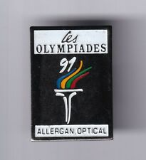 RARE PINS PIN'S .. OLYMPIQUE OLYMPIC ALBERTVILLE 1992 TORCH RELAY OPTICAL ~21