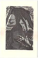 AGNES JORIS: Exlibris für Leo Bruggemann, Akt hinter Harfe