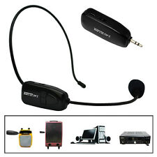 Pro Headset Head wearing Microphone Mic For Megaphone PC Wireless System 3.5mm