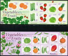 JAPAN 2015 Früchte Gemüse Fruits Vegetables Kleinbögen III ** MNH