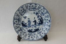 More details for chinese kangxi / yongzheng blue and white plate