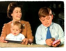 English Royal Family-Young Queen Elizabeth-Prince Andrew-Edward-Vintage Postcard