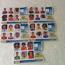 PANINI-BRAZIL WORLD CUP 2014-SHEETS 1-5 COMPLETE PAGES-6 PER PAGE-COLLECTORS-NEW
